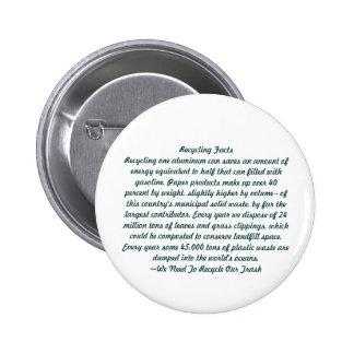 Reciclaje Pin Redondo De 2 Pulgadas