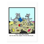 Reciclaje y abonamiento: Dibujo animado de la rata Postal