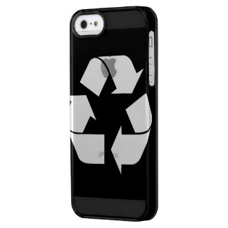Reciclando el símbolo - blanco (para los fondos funda clearly™ deflector para iPhone 5 de uncommon