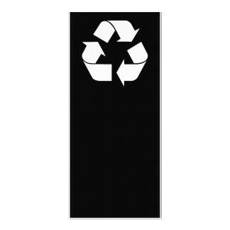 Reciclando el símbolo - blanco (para los fondos lonas publicitarias