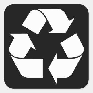Reciclando el símbolo - blanco para los fondos ne