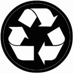 Reciclando el símbolo - blanco (para los fondos ne