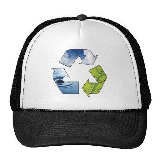 Reciclando el símbolo - gorra