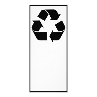 """Reciclando el símbolo - negro folleto publicitario 4"""" x 9"""""""