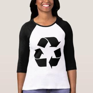 Reciclando el símbolo - negro camiseta