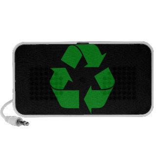 Reciclando el símbolo - verde portátil altavoces
