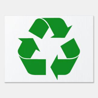 Reciclando el símbolo - verde carteles