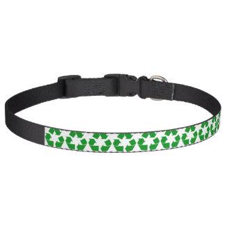 Reciclando el símbolo - verde collares de perro