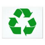 Reciclando el símbolo - verde invitacion personal