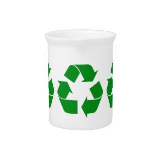Reciclando el símbolo - verde jarron