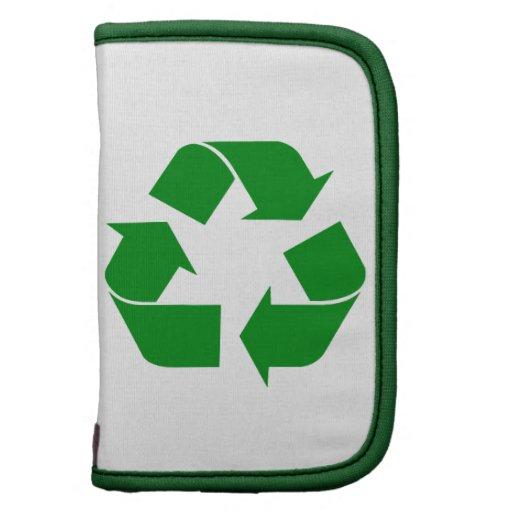Reciclando el símbolo - verde planificadores
