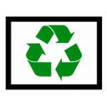 Reciclando el símbolo - verde postal