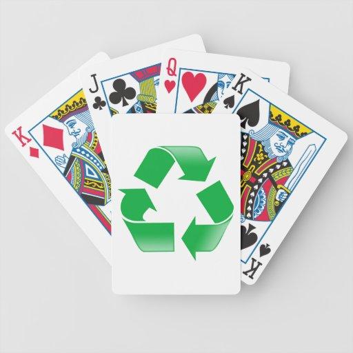 Reciclando la OBRA CLÁSICA RECICLE el SÍMBOLO Barajas De Cartas