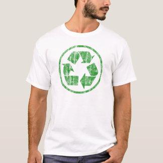 Reciclando para ahorrar la tierra del planeta, playera