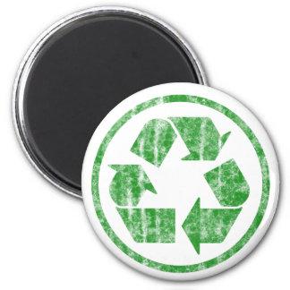Reciclando para ahorrar la tierra del planeta, sím imán redondo 5 cm