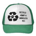 Reciclar-Adopte un gorra sin hogar del mascota