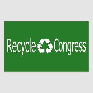 Recicle a los pegatinas del congreso