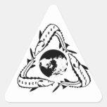 Recicle a los pegatinas del esturión calcomania trianguloada