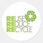 Recicle a los pegatinas pegatinas redondas