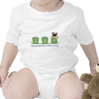 Recicle, adopte por favor un barro amasado traje de bebé