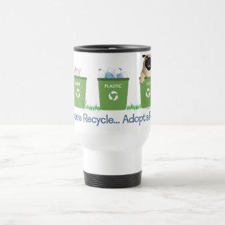 Recicle, adopte por favor un barro amasado tazas
