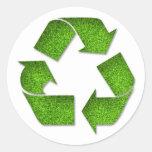 Recicle al pegatina