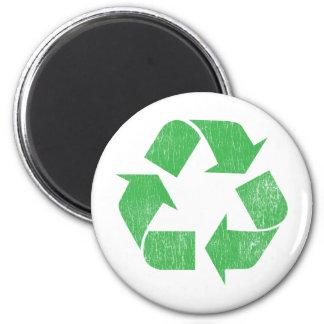 Recicle - ambiental imán redondo 5 cm