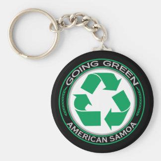 Recicle American Samoa Llavero Redondo Tipo Pin