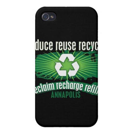 Recicle Annapolis iPhone 4/4S Carcasas