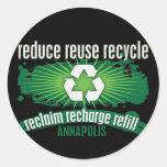 Recicle Annapolis Pegatina