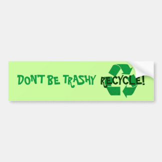 Recicle Etiqueta De Parachoque