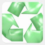 Recicle Calcomanía Cuadrada Personalizada