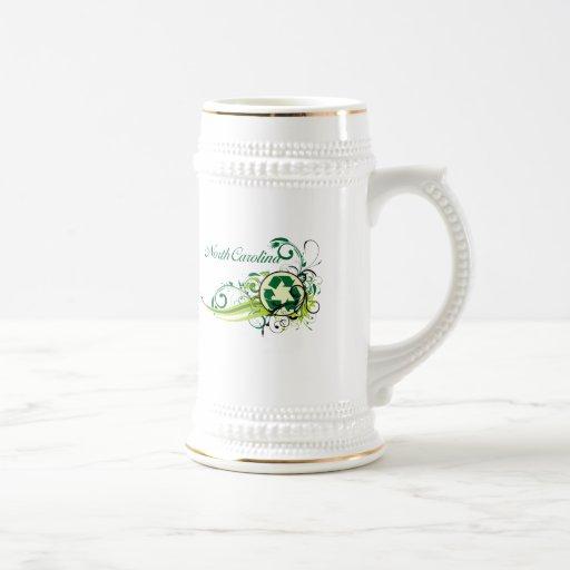 Recicle Carolina del Norte Tazas De Café