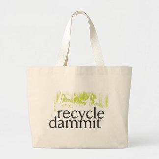 recicle dammit bolsa tela grande