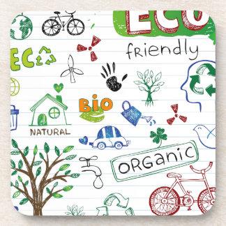 Recicle Eco amistoso Posavasos De Bebidas