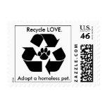 Recicle el AMOR., adopte a un mascota sin hogar. S Franqueo
