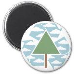 Recicle - el árbol -1 iman para frigorífico