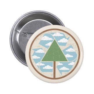 Recicle - el árbol -2 pin redondo 5 cm