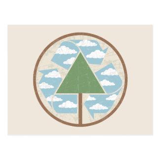 Recicle - el árbol -2 postal