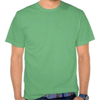 Recicle el blanco en verde camiseta