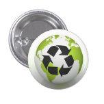 Recicle el botón ambiental pin
