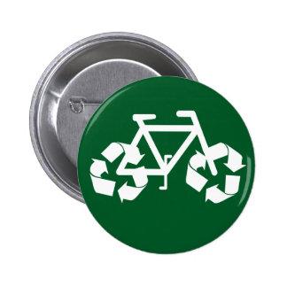 Recicle el botón de la bici pin