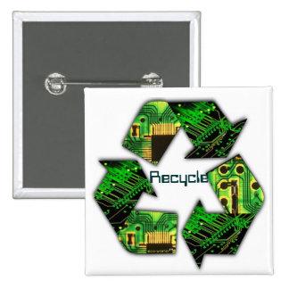 Recicle el botón de la electrónica pin cuadrado
