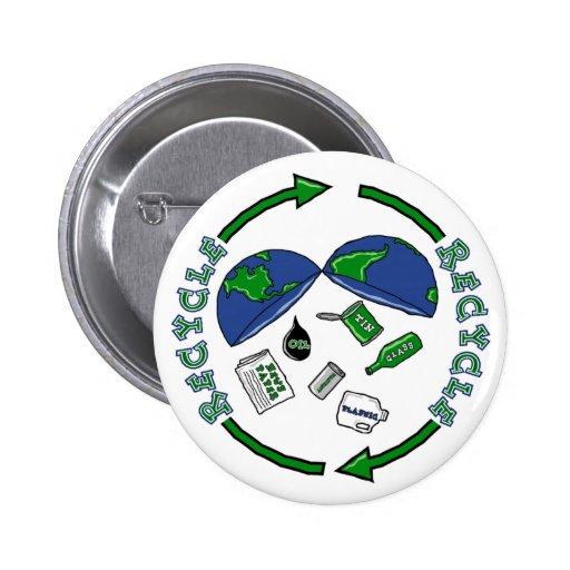 Recicle el botón de la tierra