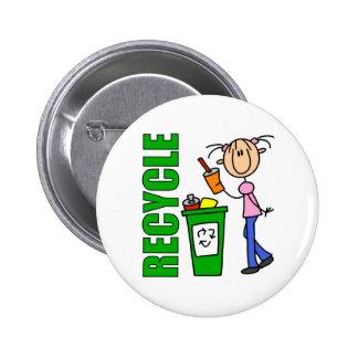 Recicle el botón pin redondo de 2 pulgadas