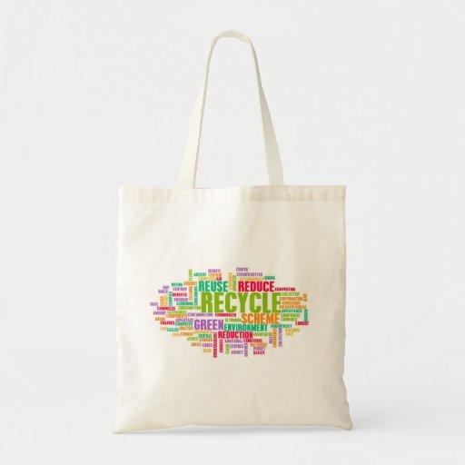 Recicle el concepto bolsa tela barata