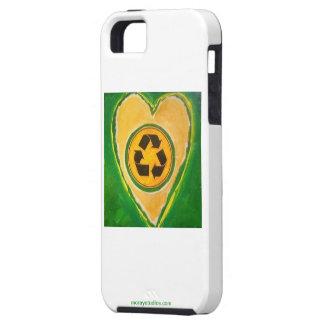 Recicle el corazón funda para iPhone 5 tough