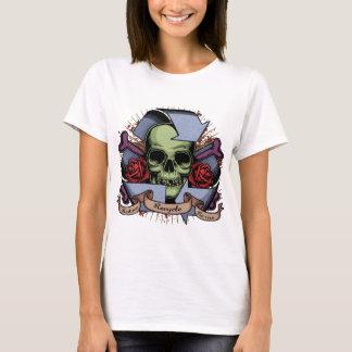 Recicle el cráneo w/Roses Playera
