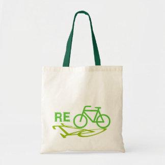 Recicle el diseño de la bici bolsa tela barata