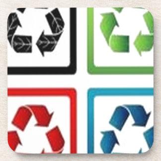 Recicle el diseño posavasos
